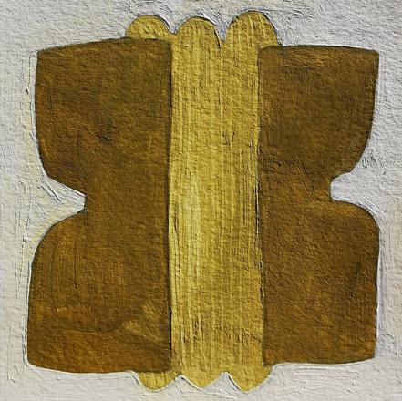 Le jardin fertile 133, 2021, huile sur papier, 11x11 cm