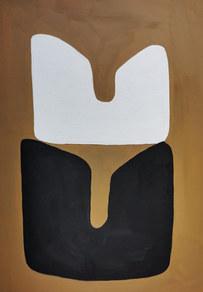 Le sacre de la nature 10, 2020, huile sur papier, 21x29,7 cm // COLLECTION PRIVEE