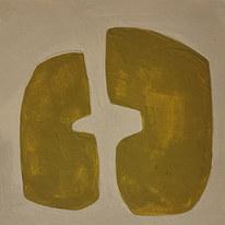 Le jardin fertile 14, 2020, huile sur papier, 11x11 cm