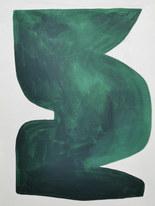 La figure du vivant 27, 2020, huile sur papier, 30x40 cm // COLLECTION PRIVÉE