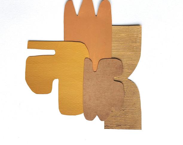 La danse inachevée 3, 2021, huile sur papier découpé, 18x22 cm, Virginie Hucher.jpg