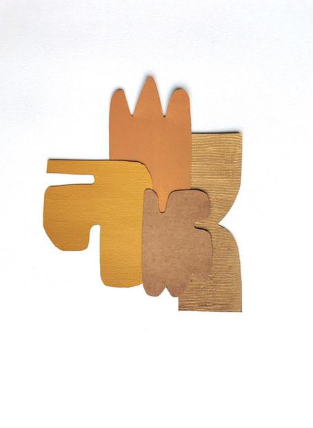 La danse inachevée 3, 2021, huile sur papier, 18x22 cm