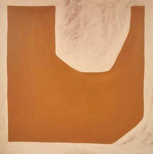 Sound of sun, 2020, huile sur toile, 100x100 cm  COLLECTION PRIVEE