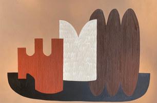 Tribu sauvage, 2021, huile tur toile, 130x195 cm