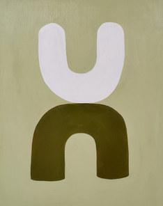 Les  liens d'Eros 2, 2020, huile sur toile, 65x81 cm