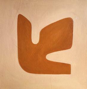 Trace de vie, 2020, huile sur toile, 80x80 cm