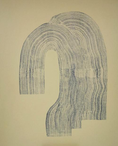 Ondulation organique, 2020, acrylique sur toile, 65x81 cm COLLECTION PRIVEE