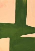 Leaf surface 2, 2019, huile sur papier, 21x29,7 cm