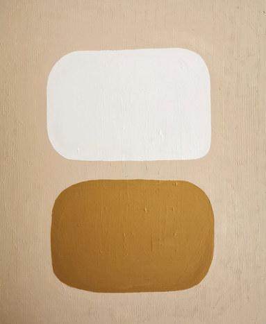 Lune et soleil, 2020, huile sur toile, 38x46 cm