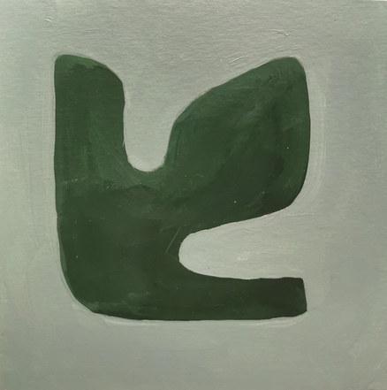 Le jardin fertile 60, 2020, huile sur papier, 11x11 cm