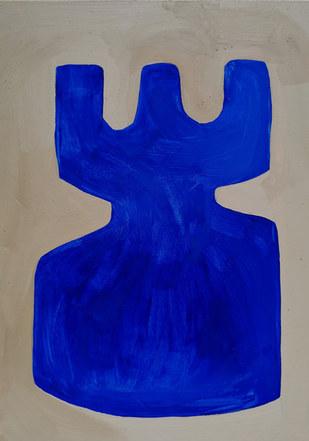 Storm surface 13, 2020, huile sur papier 21x29,7 cm