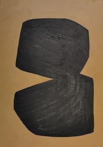 Le sacre de la nature 8, 2020, huile sur papier, 21x29,7 cm // COLLECTION PRIVEE