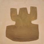Terre de fleurs, 2020, huile sur papier, 11,5x11,5 cm