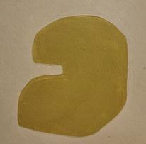 Le jardin fertile 12, 2020, huile sur papier, 11x11cm