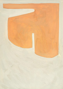 Des visions sur la dune, 2020, huile sur papier, 21x29,7 cm // COLLECTION PRIVEE