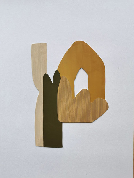La danse inachevée 9, 2021, huile sur papier, 16x23 cm
