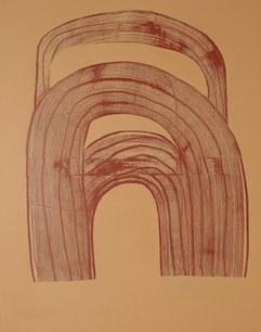 Ondulation organique 6 2020, acrylique sur toile, 65x81 cm