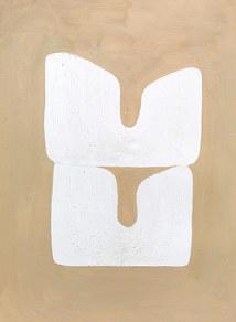 La figure du vivant 87, 2020, huile sur papier, 30x40 cm // COLLECTION PRIVEE