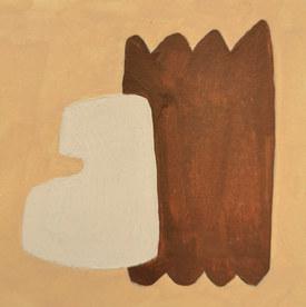 Le jardin fertile 89, 2020, huile sur papier, 11x11 cm