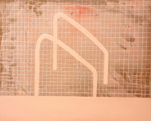 Pink pool, 2020, acrylique sur toile, 65x81 cm COLLECTION PRIVEE