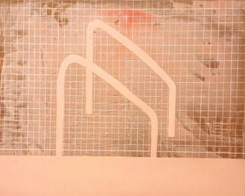 Pink pool, 2020, acrylique sur toile, 65