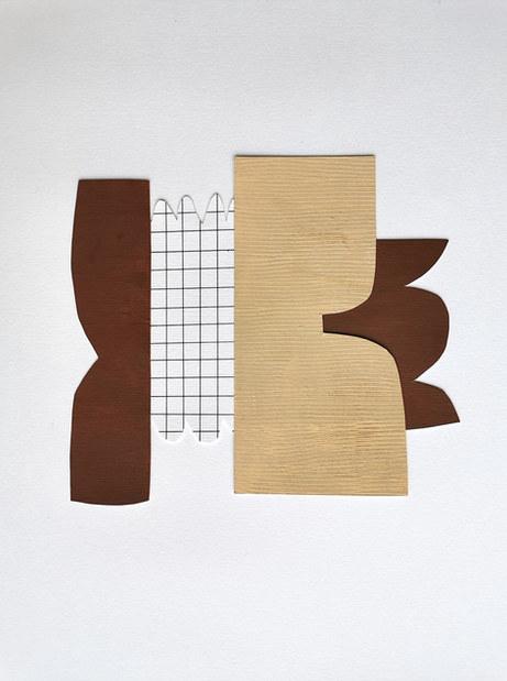 La danse inachevée 4, 2021, huile sur papier, 22x20 cm