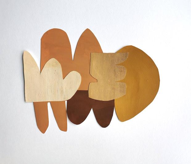La danse inachevée 14, 2021, huile sur papier, 36x28 cm