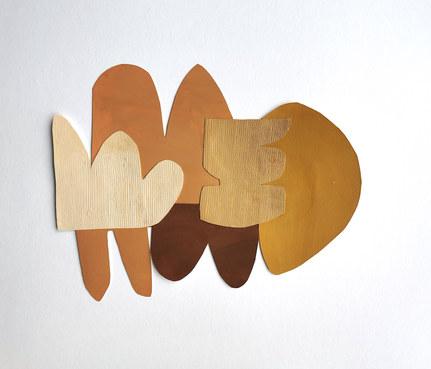 La danse inachevée 14, 2021, huile sur papier découpé, 36x28 cm, Virginie Hucher.jpg
