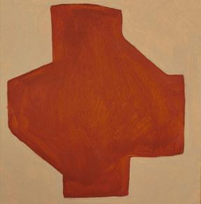 Le jardin fertile 96, 2020, huile sur papier, 11x11 cm