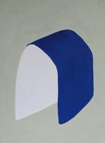 La figure du vivant 63, 2020, huile sur papier, 30x40 cm