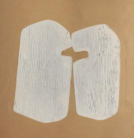 Paysages intérieurs 4, 2020, huile sur papier, 22x22 cm