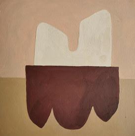 Paysages intérieurs 9, 2020, huile sur papier, 22x22 cm