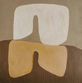 Paysages intérieurs 10, 2020, huile sur papier, 22x22 cm