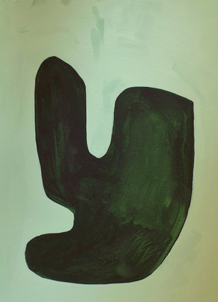 La figure du vivant 38, 2020, huile sur papier, 30x40 cm