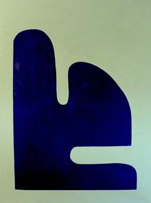 blue rock, 2019, acrylique sur toile, 97x130 cm