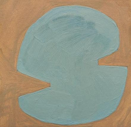 Le jardin fertile 107, 2020, huile sur papier, 11x11 cm