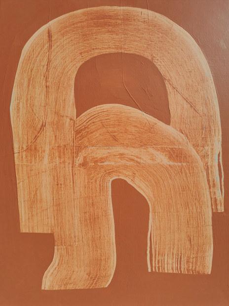 Ondulation organique 4, 2020, acrylique sur toile, 73X92 cm
