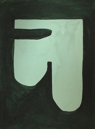 La figure du vivant 35, 2020, huile sur papier, 30x40 cm