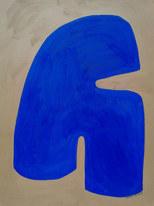 Blue wave, 2020, huile sur papier, 30x40 cm // COLLECTION PRIVÉE