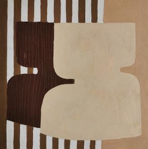 Paysages intérieurs 11, 2020, huile sur papier, 22x22 cm