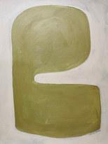 Forme germée, 2020, huile sur papier, 30x40 cm