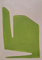 Leaf surface 3, 2019, huile sur papier, 21x29,7 cm