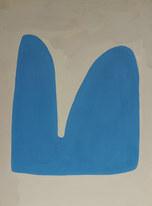 La figure du vivant 61, 2020, huile sur papier, 30x40 cm