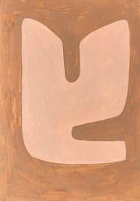 Le sacre de la nature 12, 2021, huile sur papier, 21x29,7 cm