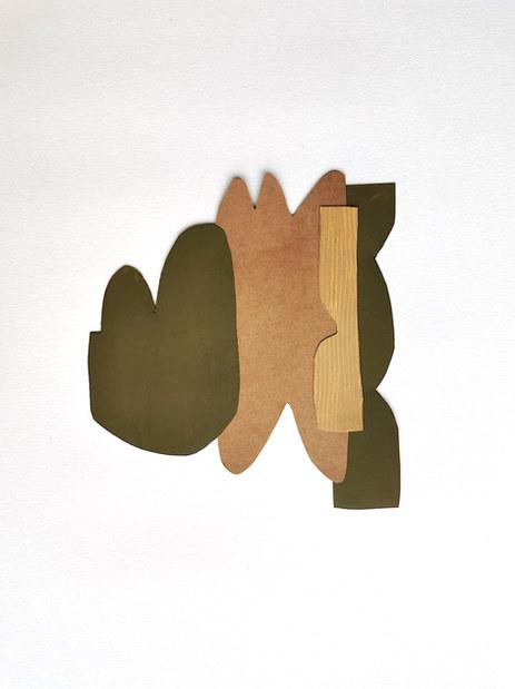 La danse inachevée 1, 2021, huile sur papier, 19x18 cm