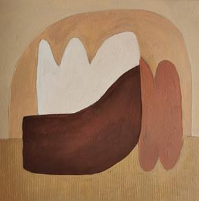 Paysages intérieurs 17, 2020, huile sur papier, 22x22 cm
