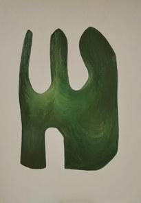 Le refuge du vivant, 2020, huile sur toile, 89x116 cm