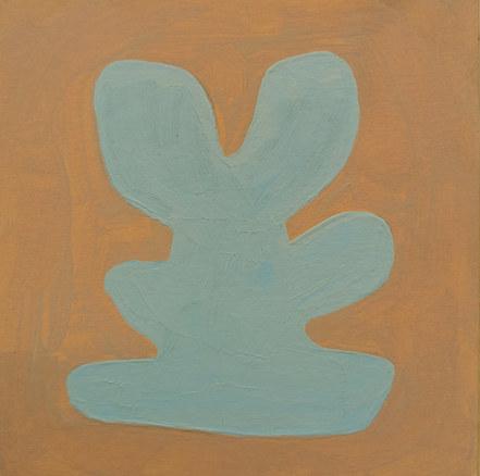 Le jardin fertile 90, 2020, huile sur papier, 11x11 cm
