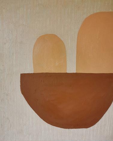 Roses du désert, 2020, huile sur toile, 38x46 cm