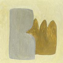 Le jardin fertile 156, 2021, huile sur papier, 11x11 cm